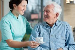 caregiver taking care of an elder